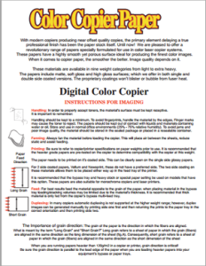 Using Color Copier Paper