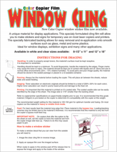 How to use Laser Cling Film Window Cling