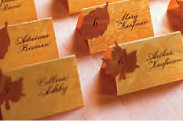 Printable Wood Veneer Place Cards
