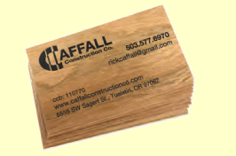 Printable Wood Veneer Business Cards