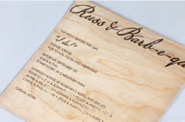 Printable Wood Veneer Menus
